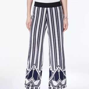 f13d1483376 Alfani NEW Wide Leg Pull On Palazzo Pants Navy